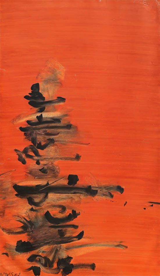 تصویر یکم از آثار ناصر عصار به نمایش در آمده در گالری شهریور
