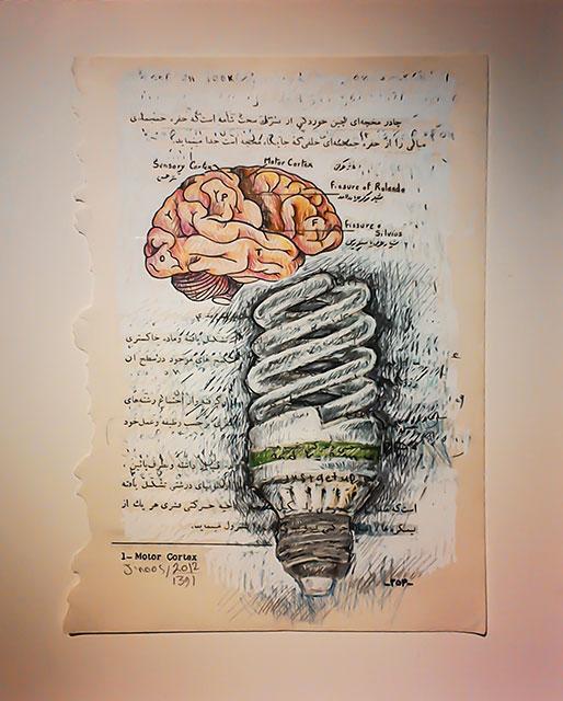 تصویر شماره یک از نمایشگاه سیم کشی روکار- ژینوس تقی زاده