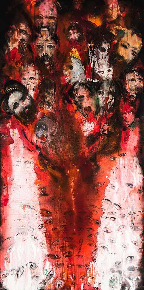 تصویر سوم از نمایشگاه هنری اسر (بدون سر، بی پایان) علیرضا آدم بکان