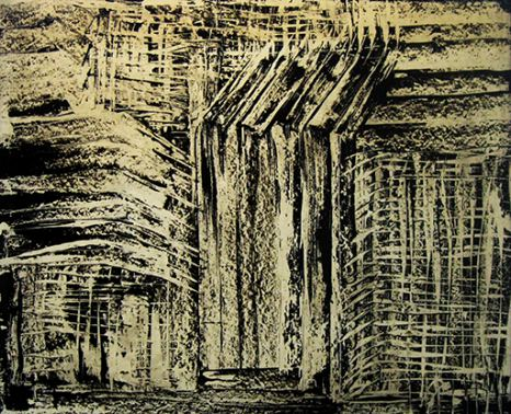 تصویر یکم از نمایشگاه رد در سیاهی - بهجت صدر