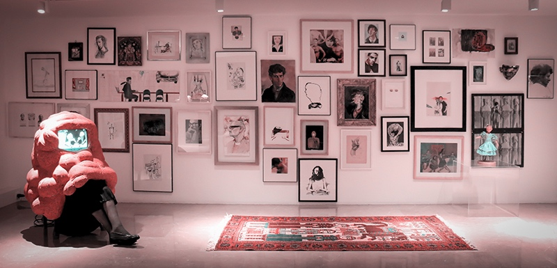 نمایشگاه چهره ها - مجموعهی شخصی فریدون آو - بنیاد لاجوردی