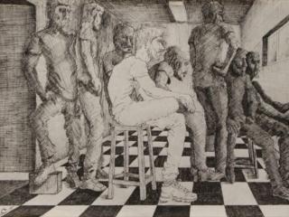 اثر اسدالله آهنی در نمایشگاه گروهی «نگاهی نو، روزمرگی» | گالری نگر