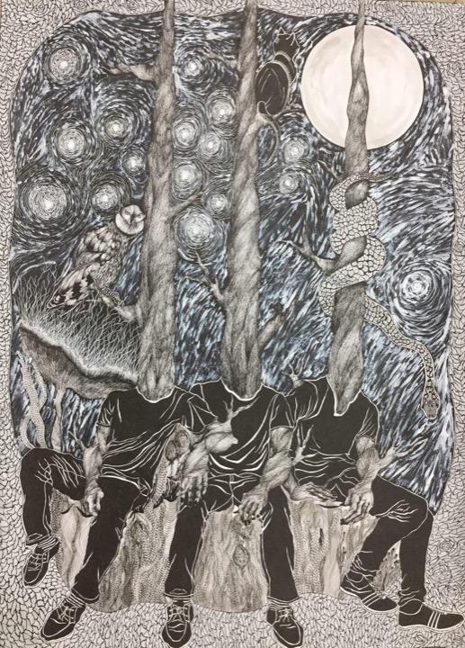 اثر ریحانه رحیم نژاد در نمایشگاه گروهی «نگاهی نو، روزمرگی» | گالری نگر