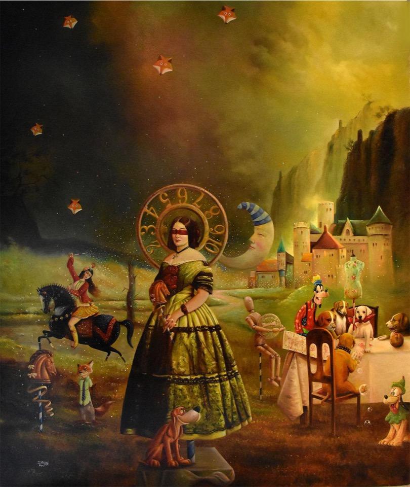اثر جواد بیاد در نمایشگاه گروهی نقاشی «سگ» | گالری شکوه