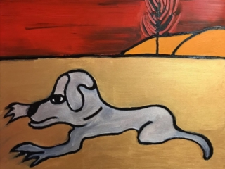 اثر هانی نجم در نمایشگاه گروهی نقاشی «سگ»   گالری شکوه