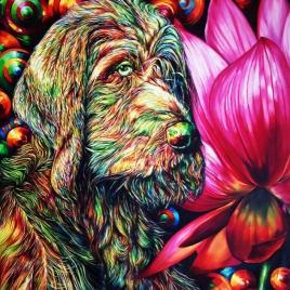 اثر سارا سهیلیفر در نمایشگاه گروهی نقاشی «سگ» | گالری شکوه
