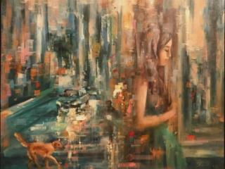 اثر سارا بی تا محبتی در نمایشگاه گروهی نقاشی «سگ»   گالری شکوه