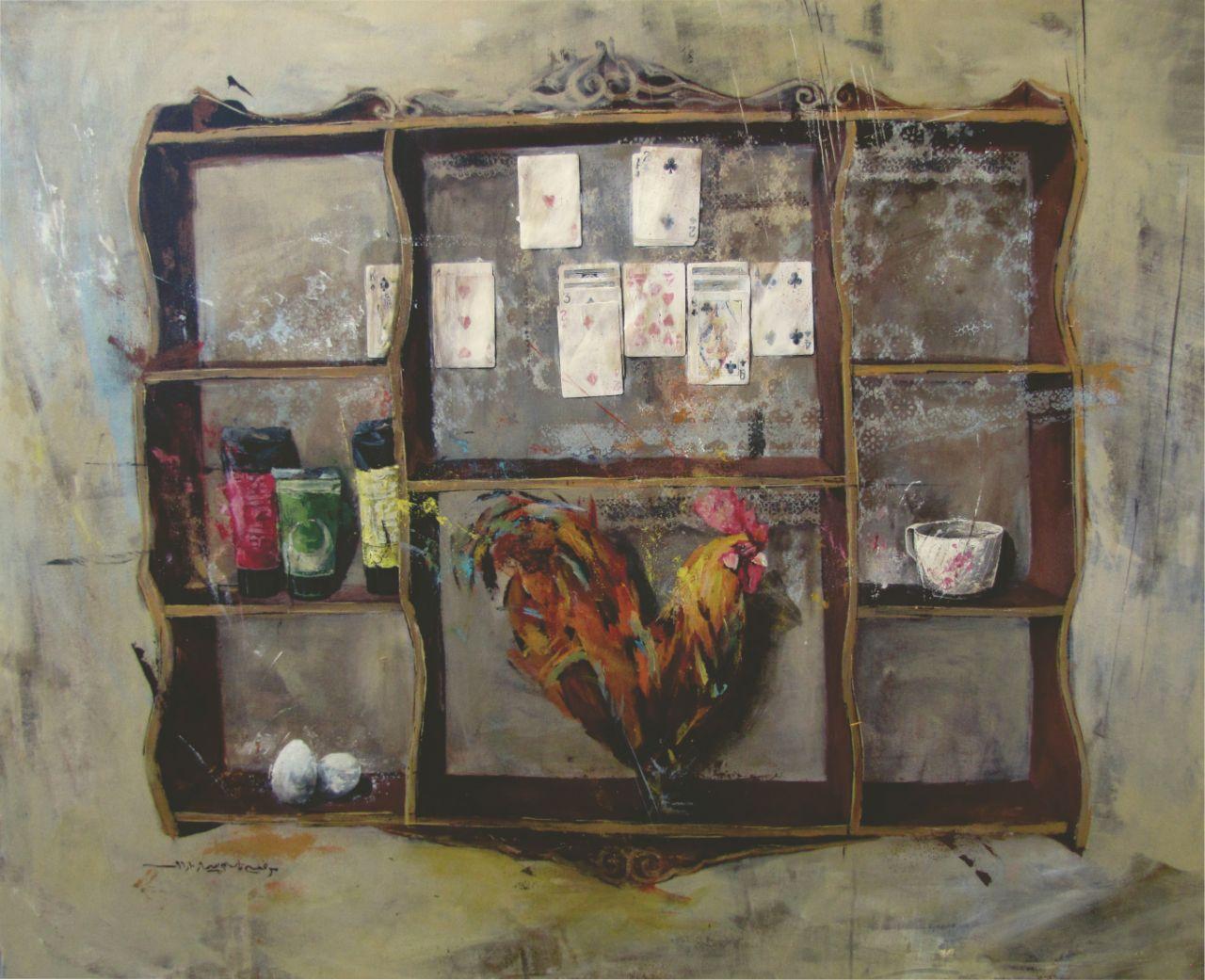 اثر مرضیه قاسم پور در نمایشگاه نابجایی  گالری الهه