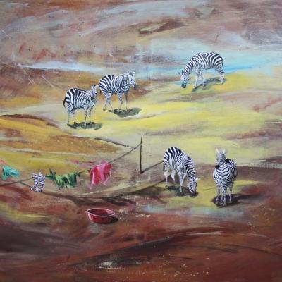 اثر مرضیه قاسم پور در نمایشگاه نابجایی |گالری الهه